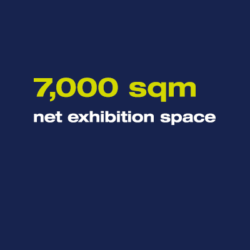 7,000 sqm net exhibition space
