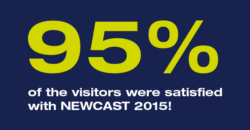 95% of the visitors were satisfied with NEWCAST 2015