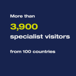 More than 3,900 specialised visitors from more than 100 countries